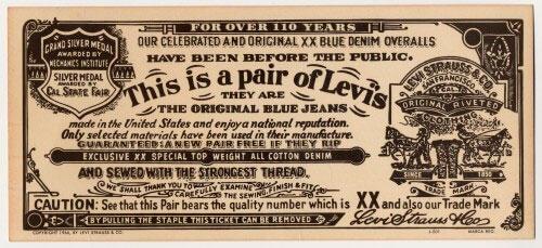 Levis Label 500x229