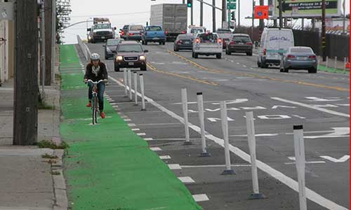 green way for bike in san francisco 500x300
