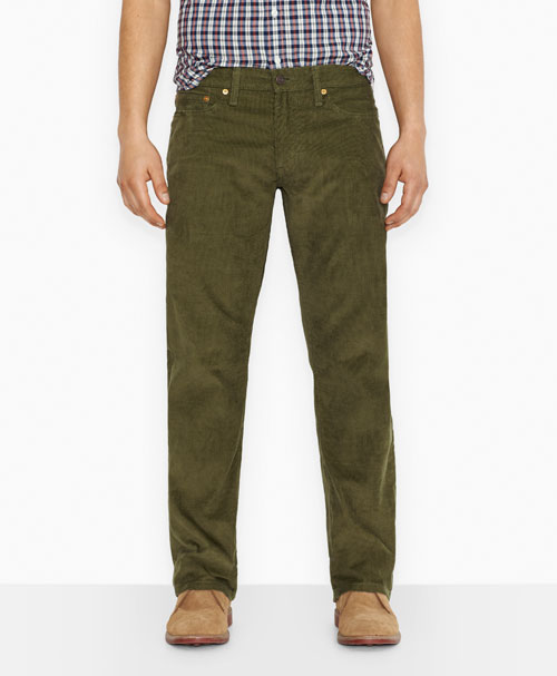 Levis  514™ Straight Fit Corduroy Pants Graphite Burnt Olive