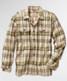 Camp Shirt  Brown and Yellow Checks